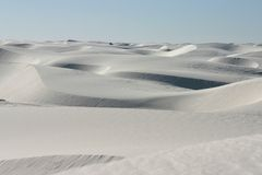 White sand dune Royalty Free Stock Photo