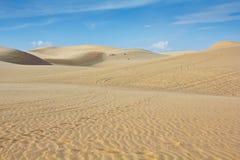 White sand dune in Mui Ne Stock Photos