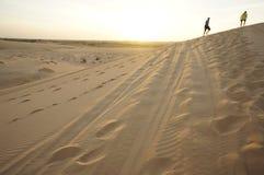 White sand dune. Muine , vietnam Royalty Free Stock Images