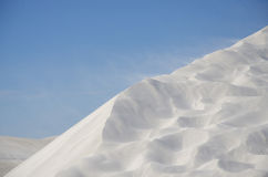 White sand dune in windy desert Stock Photography
