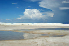 White sand dunes Royalty Free Stock Photo