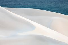 White sand dunes Royalty Free Stock Images