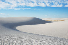 White sand dunes Royalty Free Stock Photos