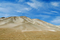 White sand dunes in Atacama royalty free stock images