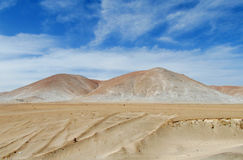 White sand dunes in Atacama Stock Photos