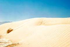 White sand dunes, Death Valley, Royalty Free Stock Photo