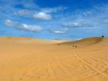 White sand dunes Stock Images