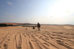 White sand dunes in Mui Ne Stock Images