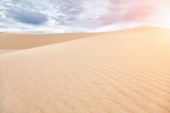 White sand dunes in Mui Ne, Vietnam Stock Photos