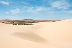 White sand dunes. of Mui Ne, Vietnam Royalty Free Stock Image