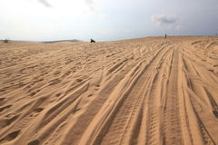 White sand dunes in Mui Ne, Vietnam Royalty Free Stock Photo