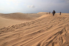 White sand dunes in Mui Ne, Vietnam Stock Images