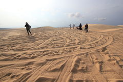 White sand dunes in Mui Ne, Vietnam Stock Photography