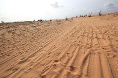 White sand dunes in Mui Ne, Vietnam Stock Photo