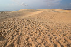 White sand dunes in Mui Ne, Vietnam Royalty Free Stock Images