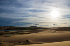 The White Sand Dunes Royalty Free Stock Image