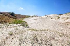White sand dunes, Nida, Lithuania. Beautiful landscape with blue Royalty Free Stock Photography