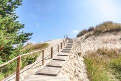 White sand dunes, Nida, Lithuania. Beautiful landscape with blue Royalty Free Stock Images