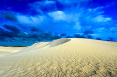 White sand dunes of Nilgen Nature Reserve Royalty Free Stock Photos