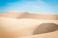 White sand dunes Stock Photos