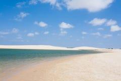 White sand dunes panorama from Lencois Maranhenses National Park Stock Photo