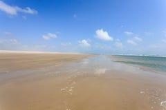 White sand dunes panorama from Lencois Maranhenses National Park Royalty Free Stock Images