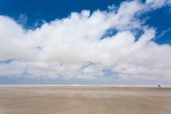 White sand dunes panorama from Lencois Maranhenses National Park Royalty Free Stock Photo