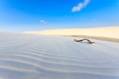 White sand dunes panorama from Lencois Maranhenses National Park Royalty Free Stock Image