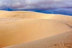 White sand dunes before storm, Mui Ne, Vietnam Royalty Free Stock Image