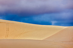 White sand dunes before storm, Vetnam Royalty Free Stock Photos