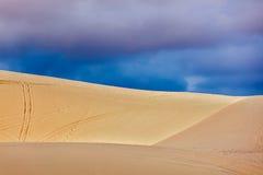 White sand dunes before storm, Vetnam Royalty Free Stock Photos