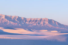 White Sand Dunes at Sunrise Royalty Free Stock Image