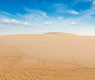 White sand dunes on sunrise, Vietnam Stock Image
