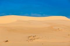 White sand dunes on sunrise, Vietnam Royalty Free Stock Photo