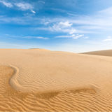 White sand dunes on sunrise, Vietnam Stock Photos