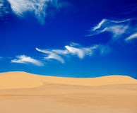 White sand dunes on sunrise, Vietnam Royalty Free Stock Photos