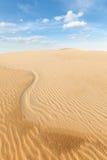 White sand dunes on sunrise, Vietnam Royalty Free Stock Image