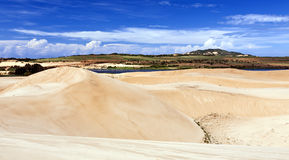 White Sand Dunes of Vietnam Royalty Free Stock Photo