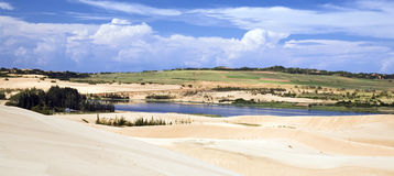White Sand Dunes of Vietnam Royalty Free Stock Photos