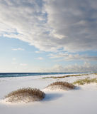 White Sand Florida Beach on Cloudy Day Royalty Free Stock Images