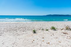 White sand in Maria Pia beach Stock Images