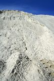 White sand mound quarry like moon landscape Stock Images