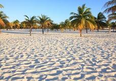 White sand and palm trees. Playa Sirena. Cayo Largo. Cuba Stock Photo
