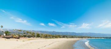 White sand in Santa Barbara shoreline. California Stock Images
