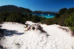 White sand Sardinia pevero bay. Sardinia italy landscape pevero beach esmerald cost Stock Photo