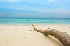 White sand Sea beach. Beautiful landscape of white sand sea beach in Tachai island, Thailand Stock Photos