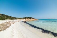 White sand in Spiaggia del Principe. Sardinia Royalty Free Stock Image