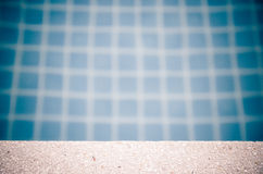 White sand stone pavement with pool Royalty Free Stock Images