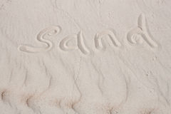 White sand text Stock Images