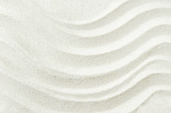 White sand texture background. With wave pattern stock photography